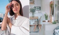 Carolina Oliveira abre as portas do novo apê minimalista no Rio