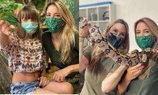 Ticiane Pinheiro e as filhas registram contato raro com a natureza