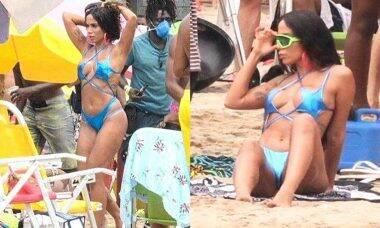 Biquíni e visual de Anitta na gravação de seu novo clipe agitam a web