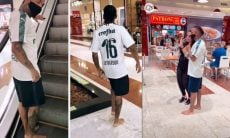 Nego do Borel passeia pelo shopping do Rio de Janeiro descalço