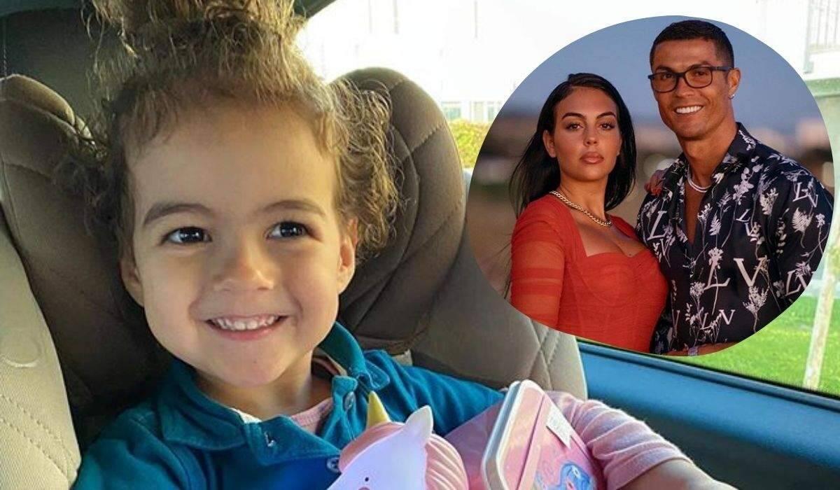 """Cristiano Ronaldo celebra os três anos da filha: """"papai te ama"""""""