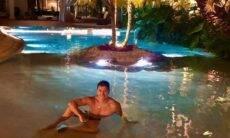 """Rodrigo Faro mostra piscina gigante e incentiva os seguidores: """"não limite seus sonhos"""""""