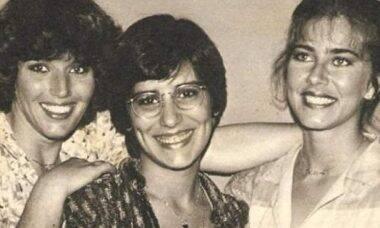 """Glória Pires posta foto rara durante os bastidores da novela """"As Três Marias"""""""