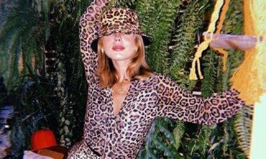 Giovanna Lancellotti arrasa com look em animal print e ganha elogios de vários famosos