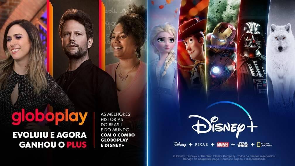 """Globoplay e Disney+ anunciam parceria inédita: """"em uma única oferta dois serviços de streaming"""""""