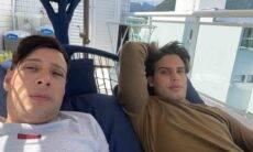 """Amigos na """"jacada"""" e na dieta. Charles Vasconcellos e Jonathan Couto compartilham rotina pós viagem dos Poncios. Foto: Divulgação"""