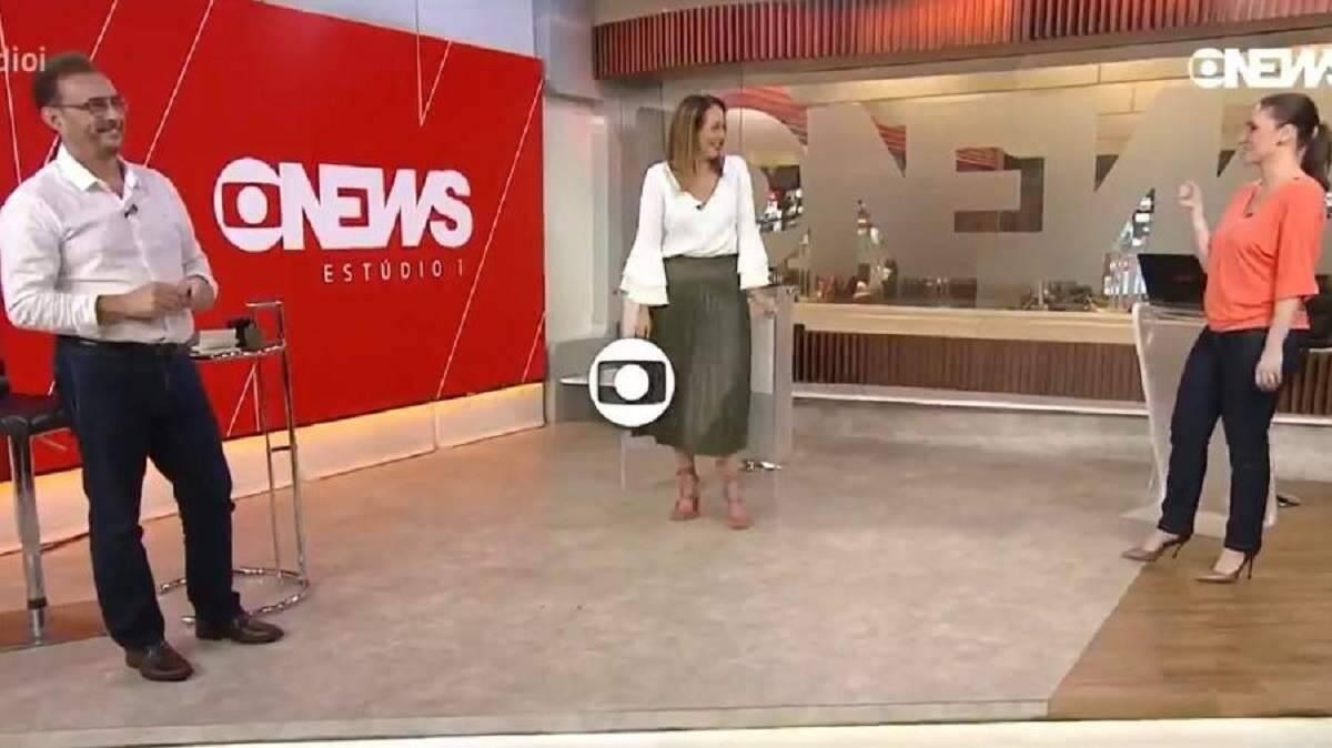 Maria Beltrão faz 'discreta dancinha' ao final do programa da GloboNews e viraliza