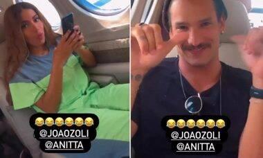 """Anitta e João Zoli viajam de jatinho juntos: """"Vão falar que tô pegando"""""""