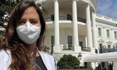 Conheça Raquel Krähenbuhl: repórter brasileira que tem acesso à Casa Branca