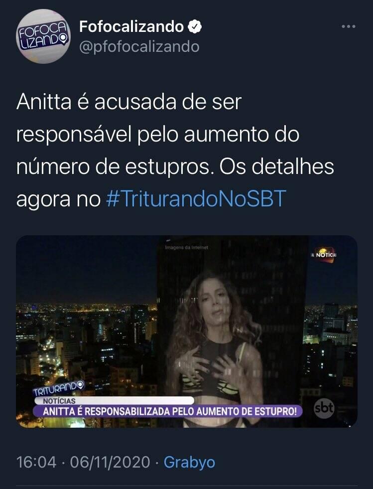 MC Rebecca defende Anitta após matéria polêmica do SBT