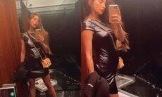 """Romana Novais mostra como o look """"esconde"""" a barriga de grávida: """"preto engana, né"""""""