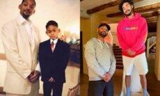 """Will Smith exibe foto rara e posa com o filho mais velho, Trey Smith: """"faz 28 anos"""""""