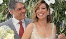 Esposa de William Bonner celebra dois anos de união com fotos do casamento. (Foto: Reprodução/Instagram)