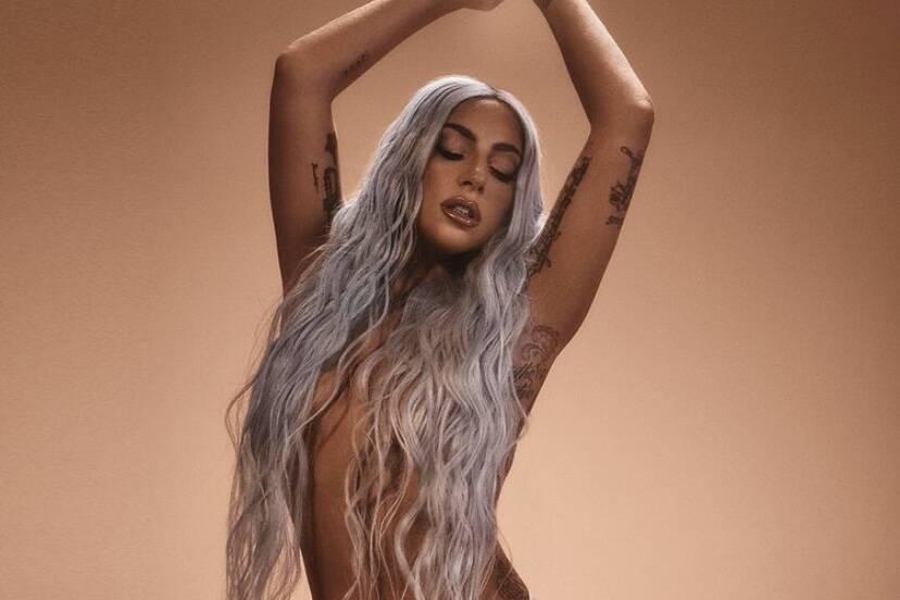 Lady Gaga faz topless para cliques de campanha