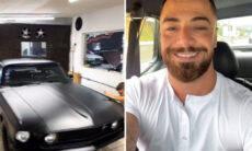 Felipe Titto ostenta em passeio com Mustang 69 em São Paulo