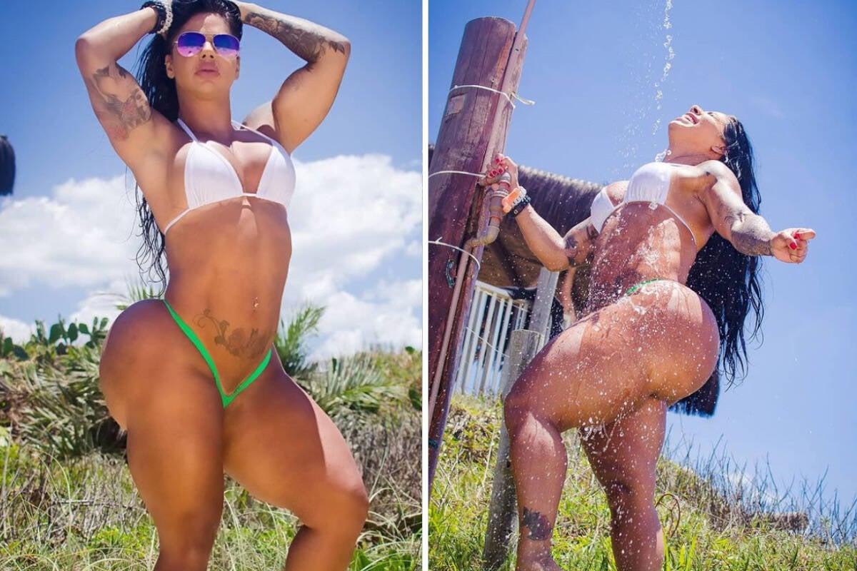 Vanessa Ataídes tenta bater o recorde de maior bumbum do Brasil