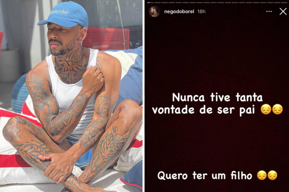 """Após término com Duda Reis, Nego do Borel desabafa: """"Quero ter um filho"""""""
