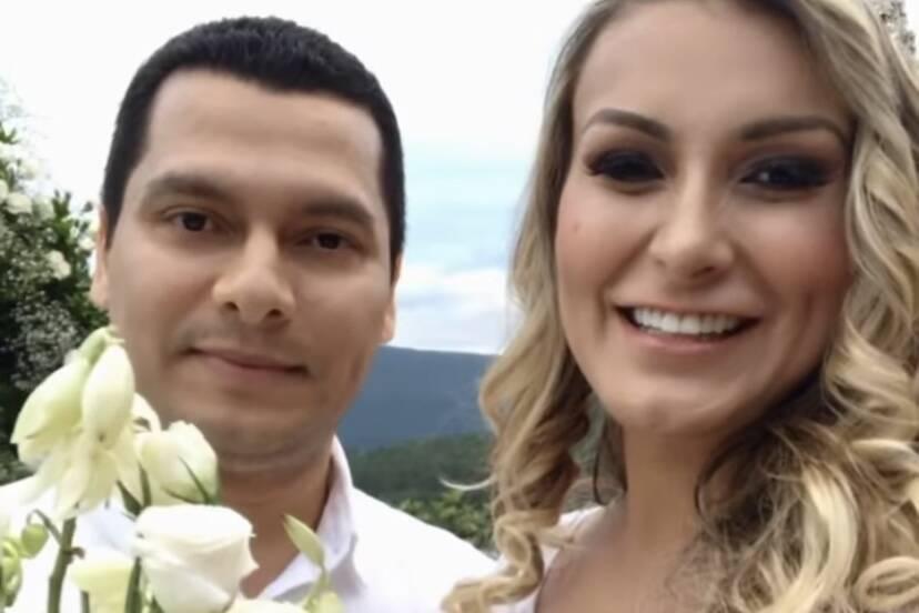 Andressa Urach se casa com Thiago Lopes em Santa Catarina