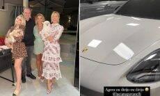 Flavia Pavanelli exibe Porsche de R$ 589 mil que ganhou de Natal