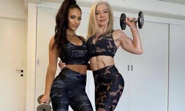 """Vovó fitness posta foto com a neta e seguidores questionam: """"Quem é quem?"""""""