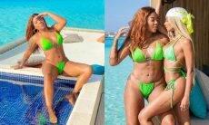 Ludmilla curte as Ilhas Maldivas acompanhada da namorada Brunna Gonçalves
