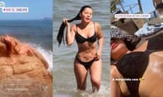 """Maraisa é flagrada curtindo praia e fala sobre bronzeado: """"marquinha vem ou uma insolação"""""""