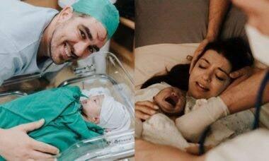 Marcelo Adnet posta foto de Patricia Cardosos e Alice logo após o parto