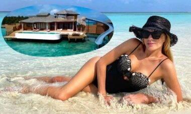 Luma Costa exibe resort em que esta hospedada nas Maldivas com diária mais de R$ 47 mil