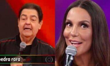 Faustão não se segura e canta junto com Ivete Sangalo
