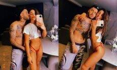 Cantor Kevinho posta cliques sexys com a namorada em frente ao espelho
