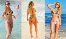 Lívia Andrade exibe as curvas em cliques de biquíni durante viagem à Aruba