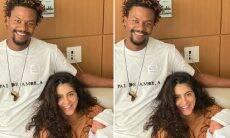 """David Junior posta clique ao lado da mulher e da filha: """"Família cresceu"""""""