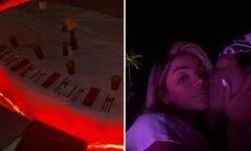Ludmilla e Brunna aproveitam jantar romântico nas Maldivas