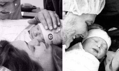 """Michel Teló posta fotos raras do nascimentos dos filhos e brinca: """"bora fazer mais um?"""""""