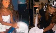 """Ludmilla e Brunna Gonçalves quebram pratos em restaurante de Dubai: """"extravasa!"""""""