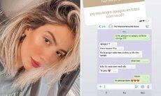 Gabi Brandt responde seguidora sobre o sogro ter apagado as fotos com ela. (Foto: Reprodução/Instagram)