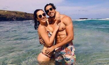 Julinho Casares se declara para Lara Silva, filha do Faustão, durante viagem à Fernando de Noronha