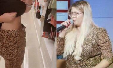 Marília Mendonça mostra o antes e depois das roupas após o meses de treino