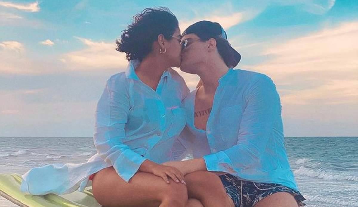 Ex-BBB Munik Nunes troca beijos com Caio Cesar e fala sobre supostas traições