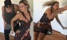 """Paolla Oliveira mostra tombo em aula de dança durante ensaio de """"A Força do Querer"""""""