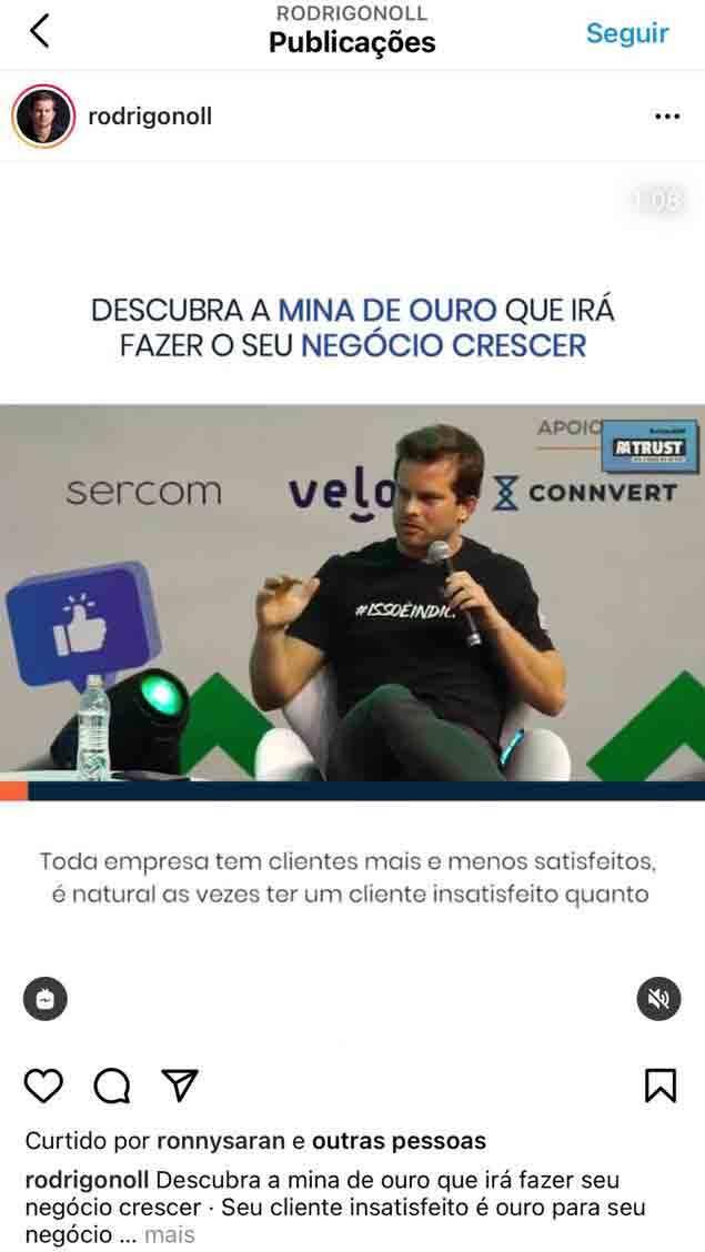 Rodrigo Noll ensina a fazer marketing e vendas por indicação em mentoria e curso. Foto: Divulgação