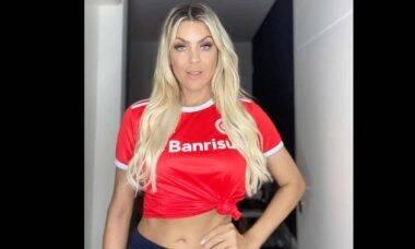 """Renata Fan, comemora o empate de Atlético-MG com Internacional: """"pequenas alegrias devem ser valorizadas!"""". Foto: Reprodução Instagram"""