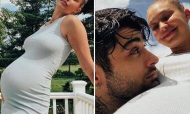 Gigi Hadid publica fotos inéditas de sua gravidez com Zayn Malik