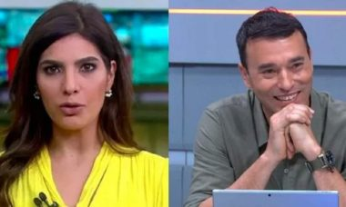 Andréia Sadi revela que André Rizek descobriu gravidez antes de entrar ao vivo