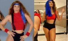 Juliana Paes faz homenagem à Shakira com look e coreografia do novo clipe da cantora. (Foto: Reprodução/Instagram)