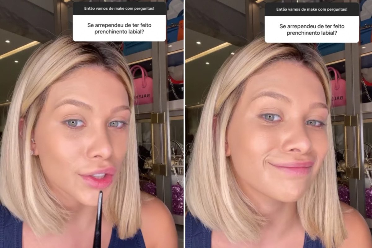 Flávia Pavanelli fala sobre arrependimento após preenchimento labial