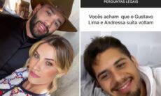 """Zé Felipe confirma que Gusttavo Lima e Andressa Suita voltaram: """"Família unida"""""""