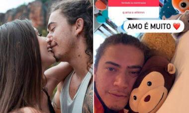 """Maria Lina se derrete por Whindersson no Instagram: """"Amo é muito"""""""