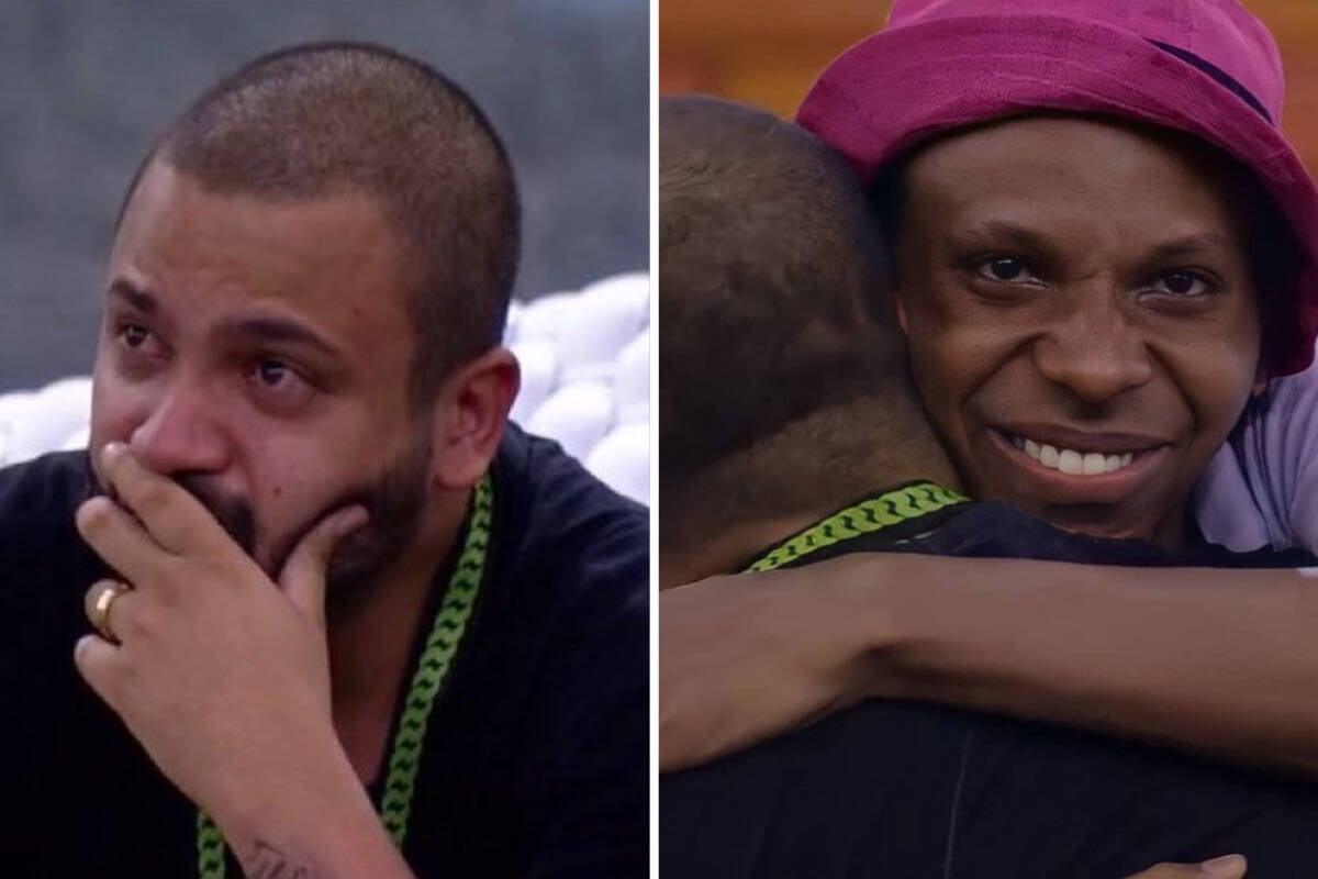 """BBB21: Lucas Penteado diz para Projota: """"Você salvou minha vida"""""""