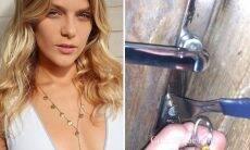 Isabella Santoni diverte seguidores ao tentar abrir porta da casa com um garfo